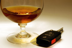 Drink and car keys royalty free stock images