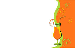 Drink card with oranges Stock Image