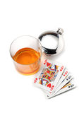Drink and cards stock photos