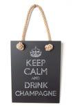 Drink champagne Stock Afbeeldingen