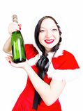 Drink champagne at Christmas and the new year Royalty Free Stock Photography