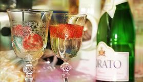 Drink, Champagne Stemware, Wine Glass, Champagne stock image