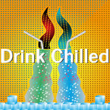 Drink chilled. Soda food glass royalty free illustration