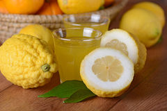 Drink with citron juice Stock Image