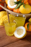 Drink with citron juice Stock Images