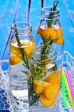 Drink with citrus and rosemary Stock Photos