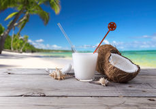 Drink cocktail coconut fruit Stock Image