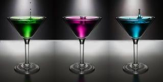 Drink, Cocktail, Purple, Martini Stock Photos