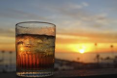 Drink cocktail sunset Royalty Free Stock Photo