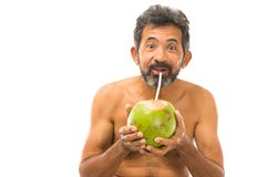 Drink Coconut Water Stock Images