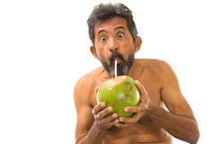 Drink Coconut Water Stock Image