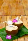 Drink Coconut Water, Milk. Diet. Nutrition, Hydration. Vitamins. Stock Image