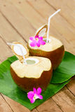 Drink Coconut Water, Milk. Diet. Nutrition, Hydration. Vitamins. Royalty Free Stock Photography