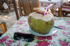 Drink coconut water naturally cool. Stock Image