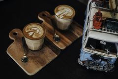 Coffee and car Stock Image