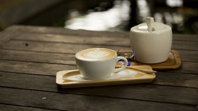 Drink coffee latte Royalty Free Stock Photo