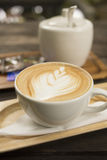 Drink coffee latte Royalty Free Stock Image