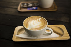 Drink coffee latte Royalty Free Stock Photography