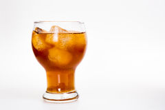 Drink cola in glass Royalty Free Stock Photos