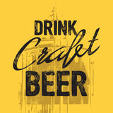 Drink craft beer quote Stock Images