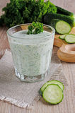 Drink from cucumber Royalty Free Stock Photo