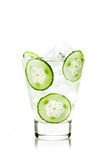 Drink with cucumber Stock Images
