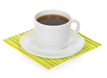 Drink in cup with saucer Stock Photos
