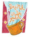 Drink de inspiratie! Stock Afbeeldingen