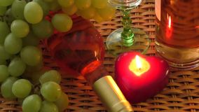 Drink. Delicious wine on the table stock footage