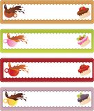 Drink and dessert banners Royalty Free Stock Image