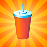 Drink in disposable cup Royalty Free Stock Photography