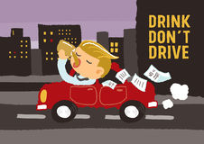 Drink do not drive Stock Image