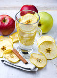 Drink from dried apples Stock Photography