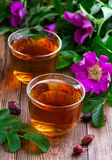 Drink from a dried rosehip. In glass cups Royalty Free Stock Image