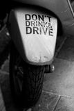 Drink drive. Dont drink and drive sticker Royalty Free Stock Image