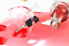 Drink and drive Stock Images
