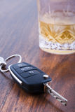 Drink and drive concept with copy space Royalty Free Stock Photography