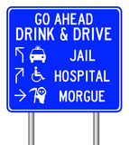 Drink and drive. The dangers of drinking and driving Royalty Free Stock Images