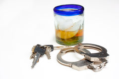 Drink, drive, get new bracelets Stock Images