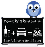 Drink and drive message Royalty Free Stock Photos