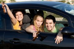 Drink and drive, underage kids royalty free stock images