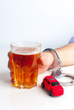 Drink driving concept Royalty Free Stock Images