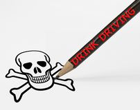 DRINK DRIVING skull stock images