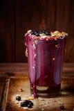 Drink för blåbäryoghurt royaltyfri fotografi