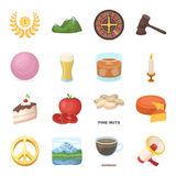 Drink, fan, food and other web icon in cartoon style.Passion, court, mountains icons in set collection.