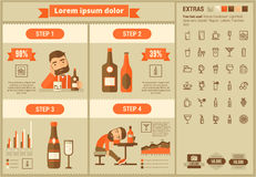 Drink flat design Infographic Template Royalty Free Stock Photos