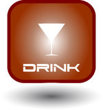 Drink and Food Glow Button Royalty Free Stock Image