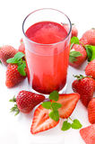 Drink from fresh berries of strawberry. Stock Images