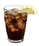 Drink. Fresh drink with cola lemon and ice Stock Photos