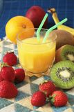Drink and fruit Royalty Free Stock Photography